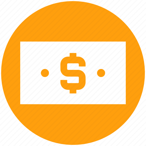 bank note, business, cash, currency, dollar, note icon