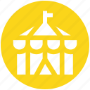 circus, circus tent, fair, fairground, fun, park tent, tent