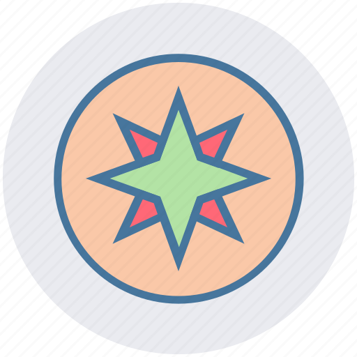 browser, compass, location, map, navigation, rose icon