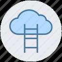 aspiration, cloud computing, cloud hosting, data cloud, stairs