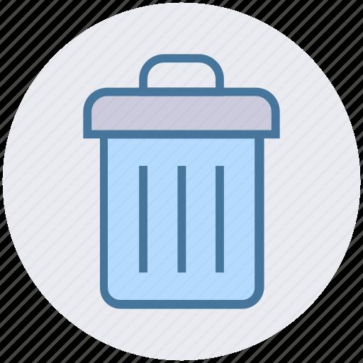 bin, delete, dustbin, garbage can, recycle, trash icon