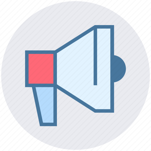 Bullhorn, loudspeaker, marketing, megaphone, speaker icon - Download on Iconfinder