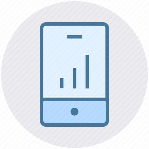 analytics, business, chart, graph, mobile, phone, statistics icon