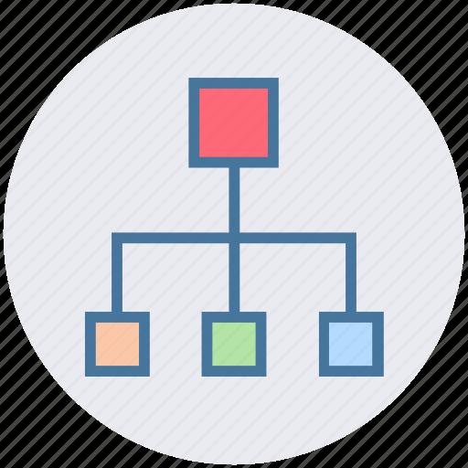 connection, data, diagram, management, network icon