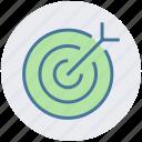 aim, ambition, arrow, business goal, dartboard, goal, target icon