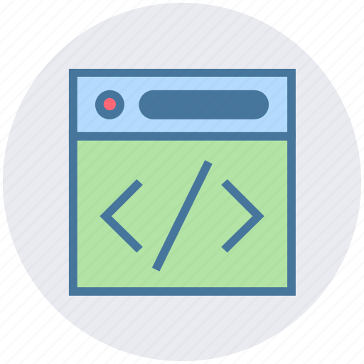 business, code, control, html, page, web icon