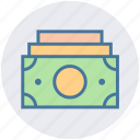 money, cash, bank notes, currency, paper, dollar notes, payment icon