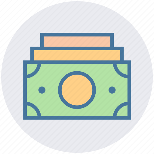 bank notes, cash, currency, dollar notes, money, paper, payment icon