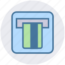 atm, atm machine, banking, card, credit, debit card, machine icon