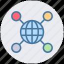 business, communication, interface, sharing, technology, world icon