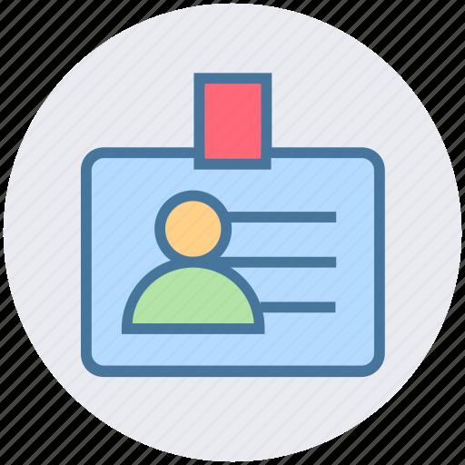 business, card, finance, id, id card, identity card, user card icon