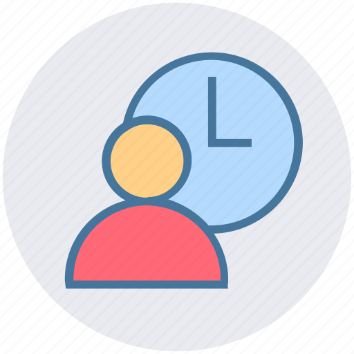 business, businessman, clock, management, time, timer, user icon