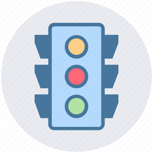 business, logistics, road, stop, street, street sign, traffic light icon