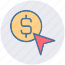 arrow, business, coin, currency, dollar, money icon