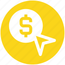 arrow, business, coin, currency, dollar, money