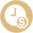 business, clock, coin, dollar, money, time