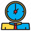 business, head, mamage, man, team, time icon