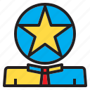 business, head, human, mamage, star, team, time icon