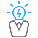creative, head, leader, idea