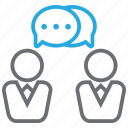 bubble, chat, discuss, message icon