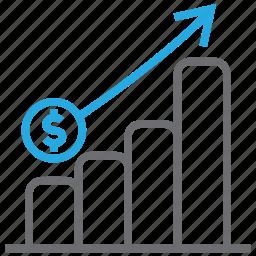 analytics, business, chart, graph, profit, statistics icon