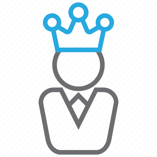 avatar, business, crown, king, manager, person, user icon