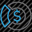 chart, market, pie, profit icon