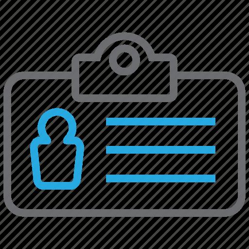 info, namecard, profile, tag, user icon