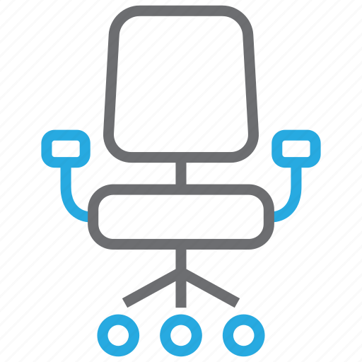 business, chair, desk, furniture, office, seat icon