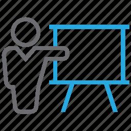 board, class, education, graph, presentation icon