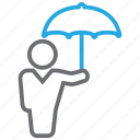 protector, rain, umbrella icon