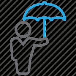 protector, rain, umbrella icon