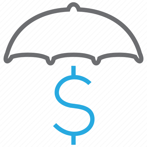 currency, finance, secure, umbrella icon