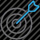 target, aim, arrow, bullseye, goal