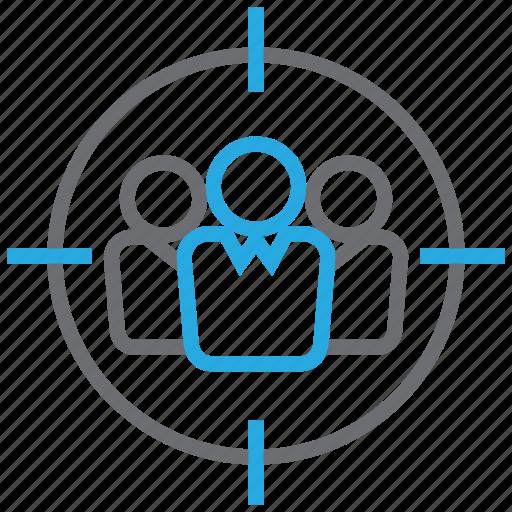 aim, customer, goal, service, target icon