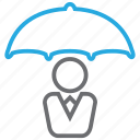 insurance, rain, umbrella, weather icon