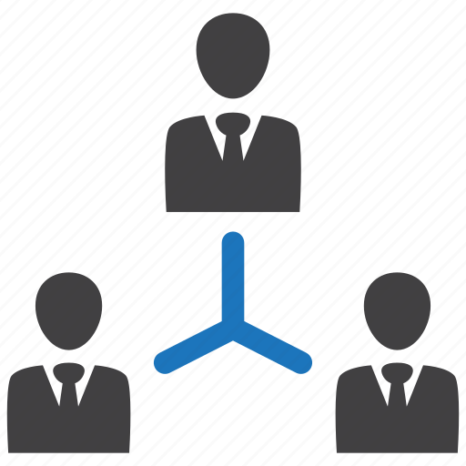 hierarchy, leader, management, manager icon