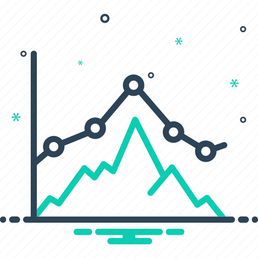 business graph, chart, digram, growing, investment, presentation, representation icon