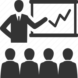graph, meeting, presentation, teamwork icon