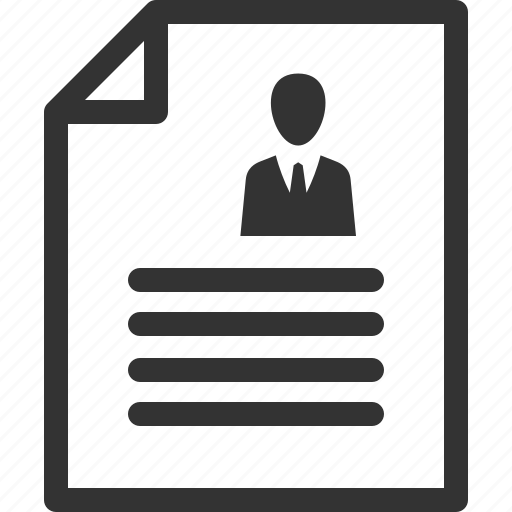 contract, cv, resume icon