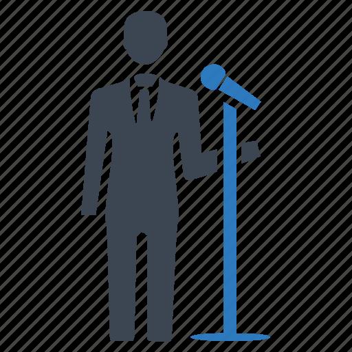 lecture, microphone, politician, seminar, speech icon