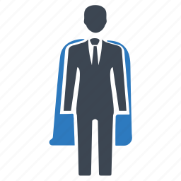business hero, businessman, leader, super hero icon