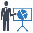 analytics, business, marketing, pie chart, presentation icon