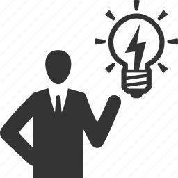 brainstorming, businessman, idea icon