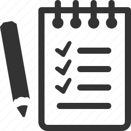 agenda, checklist, tasks, wishlist icon