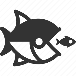 business competition, competitors, fish icon