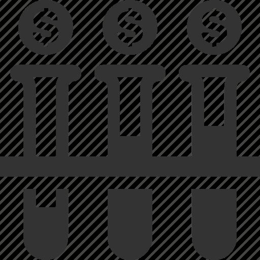 finance, investment, lab, money icon