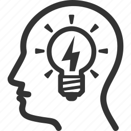 brainstorming, head, idea icon