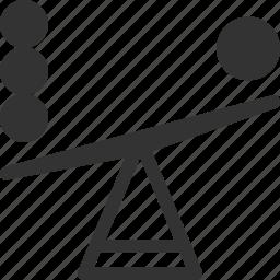 balance, choice, decision, seesaw icon