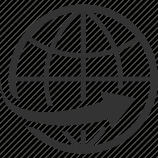 global business, global communication, worldwide icon